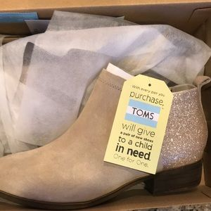 TOMS Oxford Glam Bootie SIZE 8
